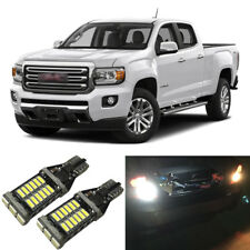 White LED 921 W16W Backup Reverse Light Bulbs For 2015-2019 GMC Canyon