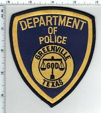 Greenville Police (Texas) Shoulder Patch from the 1980's