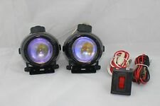 PROJECTOR UNIVERSAL 12V H3 55W FOG LIGHTS LAMPS HARNESS SET PAIR CIVIC ACCORD