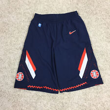 ILLINOIS FIGHTING ILLINI Mens M Blue Basketball 2013-14 Game Shorts NIKE Dri-Fit