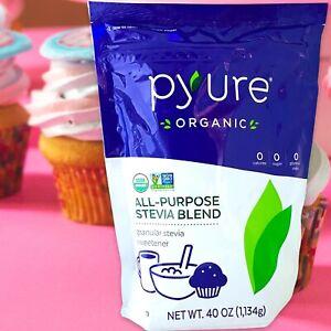 2.5 LBS Pyure ORGANIC All-Purpose Stevia Sweetener Blend 2:1 Sugar Substitute