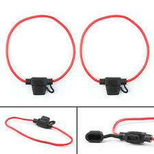 2Pc Mini Blade Fuse Holder APM ATM Waterproof 14AWG In-Line Wire For Car Boat