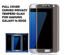 Anti-espion intimité Courbé 3D verre trempé protecteur d'écran pour Samsung S6