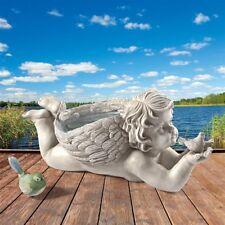 God's Messenger Cherub With Bird Design Toscano Exclusive Angel Garden Statue