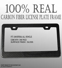 JDM 1 pc Black Carbon Fiber Custom License Plate Snap Frame Auto Car Truck X210