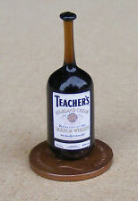 1:12 Real Glass Bottle Of Teachers Whisky Dolls House Miniature Bar Accessory