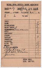 1938 ROYAL NOVA SCOTIA YACHT SQUADRON PC Postcard HALIFAX Canada YACHTS Boats