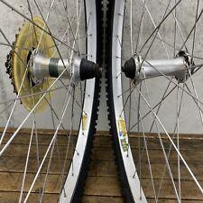 "Shimano Wheel Set 26"" MTB Mountain Bike Weinmann 32h 7s 8s 9s Alloy + Tires"
