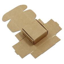 20X 4x4x2cm Brown Kraft Paper Package Box Gifts Craft Wedding Favors Packing Box