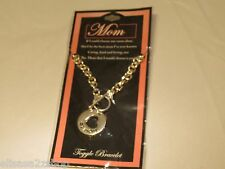 Mom Toggle Bracelet with heart charm Mother 16544 MOM-TBR NEW silver fashion D.M