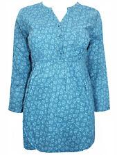 New Seasalt Safari Top Teal Cotton Tunic Top in Size 8