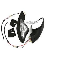 View Side Mirrors Turn Signal Light For Ducati Motorcycle 848 1098 1098S Black