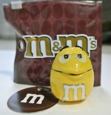 New NWT Monet Yellow Peanut M&M Enamel Brass Hinged Keepsake Trinket Box