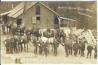 RPPC ~ Mules & Drivers, Renton Mine, RENTON, WASH c.1912 ~ King County ~ OMG!!!