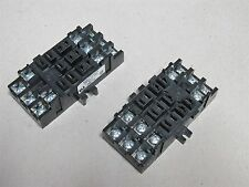 2 Pack Custom Connector SS11 11 Pin 3 PDT Square Base Relay Socket 10A 300V 15A