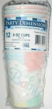 Party Dimensions Baby Birthday Heart Twinkle 9oz Cup Pack - Made In The USA - (1