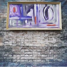 Fabulous Vintage Mid Century Abstract Painting Signed Terry Frost 68