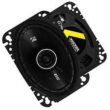 """Kicker 1-PAIR 4x6"""" DS Series 120W Peak / 30W RMS 2-Way Coaxial Car Speakers"""