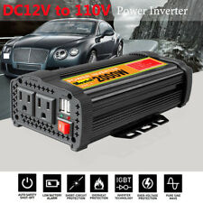 Solar Power Inverter 4000W Peak 12V DC To 110V AC Modified Sine Wave Converter C