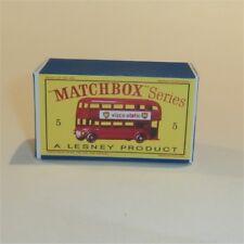 Matchbox Lesney  5 c London Bus empty Repro D style Box