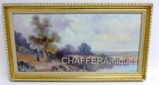 J. HALL (British Artist) Antique Oil On Board Landscape Painting c1906