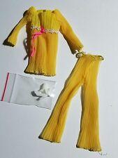 Vintage 1970 Mod Barbie Lemon Kick Outfit 1465 with White Pilgrim Shoes