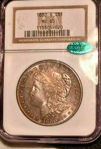 1880-S NGC CAC MS65 Morgan Dollar (Beautiful Original Toning)