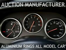 Toyota Supra Mk4 93-98 Polished Aluminium Trim Rings Instrument Cluster x3