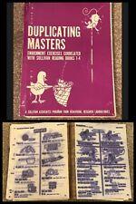 1972 READING Worksheets Teacher Master Copy Elementary School Mimeograph Vintage