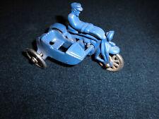 Blechspielzeug Sidecar blau cm 9 1724 - no box