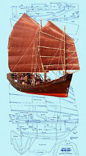 Build a Chinese Junk Full Size Printed Plans & Building Instructions for R/C