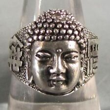 Buddha Blessing Unisex Men's Ring Stunning Tribal lucky Tibet Silver