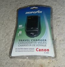 New DigiPower Travel Battery Charger for Canon Digital Cameras 100V-240V TC-500C