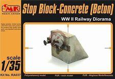 CMK 1/35 Railway Buffer Stop - Concrete Stop Block (Beton) WWII RA037