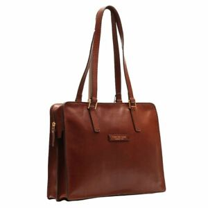 Cartella Shopper THE BRIDGE Borsa pelle donna made in Italy 38x29x11cm marron...