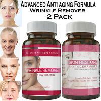 PHYTOCERAMIDES Anti Aging Wrinkle Remover Capsules Vitamins Multi Collagen Pills