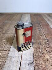 Royal Neatsfoot Oil Compound Shoe Polish Vintage Tin 30% Full