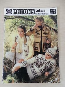Patons Totem C40 - Tricks with Tricot Knitting Patterns Vintage