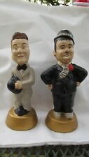 """Laurel & Hardy 8 1/2 """"Ceramic Statues On A Base"""