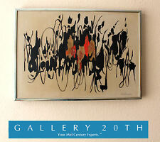 ICONIC MID CENTURY MODERN ORIGINAL ABSTRACT PAINTING! ART VTG EAMES ERA 50'S 60s