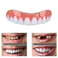 False Fake Instant Cosmetic Silicone Simulation Denture Smile Veneer Teeth US