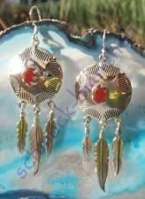 Ohrring Karneol rot Stein des Sternzeichen Widder Sterling Silber 925