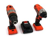 Black+Decker Cordless Drill / Impact Driver Combo Kit With Battery 1.5Ah 20V Max