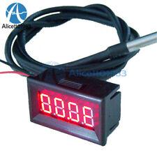 Red Led Digital Car Temperature Meter Thermometer 55 125c Ds18b20 Sensor Fc