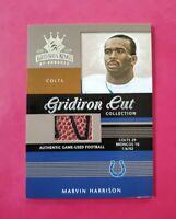 2003 Gridiron Kings Gridiron Cut Coll. #GC88 MARVIN HARRISON #/275 **FREE SHIP**