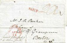 1818 Ship letter to Boston per scan