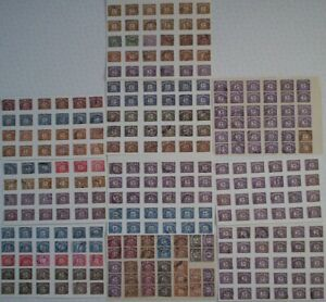 """Lot 1. 291 x """"Postage Due"""" and """"To Pay"""" stamps. Pre-Decimal. Hinged."""