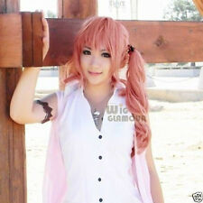 New Final Fantasy XIII Serah Farron Long Pink Cosplay Hair Wig + hairnet