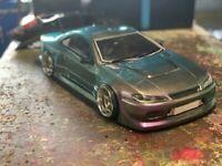 1:10 RC Clear Lexan Body Nissan Silvia S15 200mm Nitro or Electric Colt