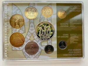 Set of coins  Coins of Ukraine ( Day of Defender of Ukraine ) 2015 year